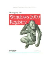 Cover of: Managing Windows 2000 registry | Paul E. Robichaux