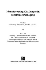 Cover of: Manufacturing Challenges in Electronic Packaging | Y. C. Lee