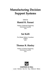 Cover of: Manufacturing Decision Support Systems | Hamid R. Parsaei