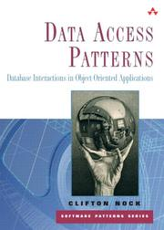 Cover of: Data Access Patterns | Clifton Nock