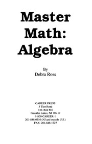 Cover of: Master math | Debra Ross