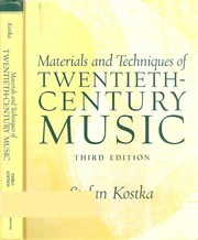 Cover of: Materials and techniques of twentieth-century music | Stefan Kostka