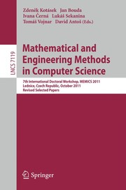 Cover of: Mathematical and Engineering Methods in Computer Science | ZdenД›k KotГЎsek