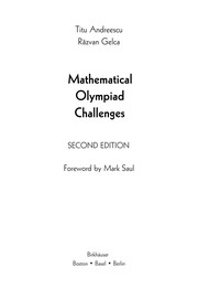 Cover of: Mathematical Olympiad Challenges
