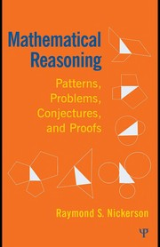 Cover of: Mathematical reasoning | Raymond S. Nickerson