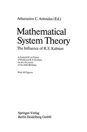 Cover of: Mathematical System Theory | Athanasios C. Antoulas