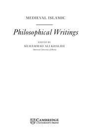 Cover of: Medieval Islamic philosophical writing |