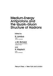 Cover of: Medium-Energy Antiprotons and the Quark--Gluon Structure of Hadrons | R. Landua