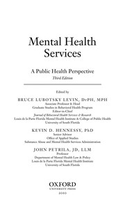 Cover of: Mental health services |