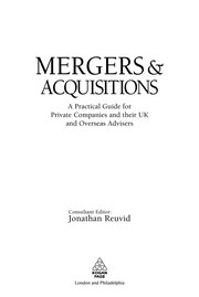 Cover of: Mergers & acquisitions | Jonathan Reuvid