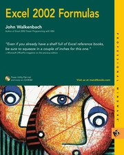 Cover of: Excel 2002 formulas | John Walkenbach