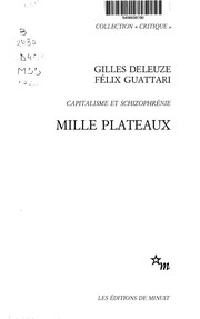 Cover of: Capitalisme et schizophrénie