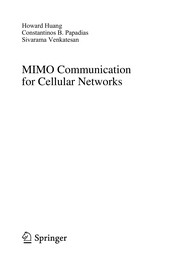 Cover of: MIMO for multiuser wireless systems | Howard C. Huang