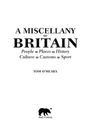 Cover of: A miscellany of Britain | Tom O