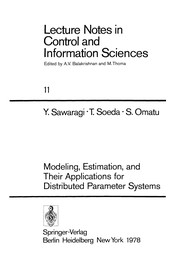 Cover of: Modeling, Estimation, and Their Applications for Distributed Parameter Systems | Yoshikazu Sawaragi