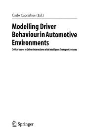 Cover of: Modelling driver behaviour in automotive environments |