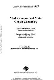 Cover of: Modern aspects of main group chemistry |