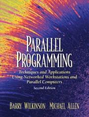 Cover of: Parallel programming by
