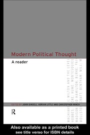 Cover of: Modern political thought
