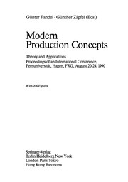 Cover of: Modern Production Concepts | G. Fandel