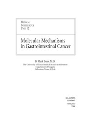Cover of: Molecular mechanisms in gastrointestinal cancer | B. Mark Evers