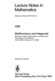 Cover of: Multifunctions and integrands |