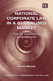 Cover of: National corporate law in a globalised market | Milman, David.