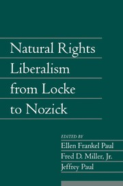 Cover of: Natural rights liberalism from Locke to Nozick