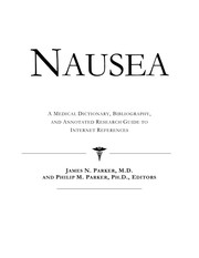 Cover of: Nausea | Philip M. Parker