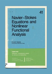 Cover of: Nav ier-Stokes equations and nonlinear functional analysis | Roger Temam