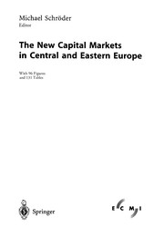 Cover of: The New Capital Markets in Central and Eastern Europe | Michael Schröder