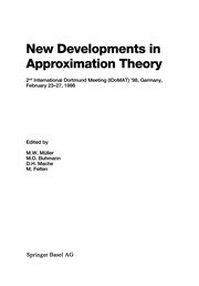 Cover of: New Developments in Approximation Theory | Manfred W. MГјller