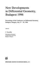 Cover of: New Developments in Differential Geometry, Budapest 1996 | J. Szenthe