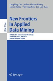 Cover of: New Frontiers in Applied Data Mining | Longbing Cao