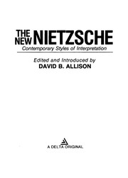 Cover of: The New Nietzsche |
