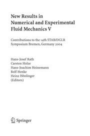 Cover of: New results in numerical and experimental fluid mechanics V | STAB/DGLR Symposium (14th 2004 Bremen, Germany)