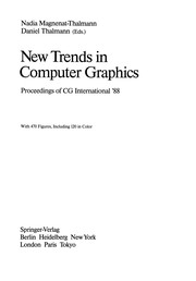 Cover of: New Trends in Computer Graphics | Nadia Magnenat-Thalmann