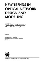 Cover of: New Trends in Optical Network Design and Modeling | Alexandros A. Stavdas