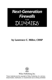 Cover of: Next-generation firewalls for dummies | Lawrence Miller