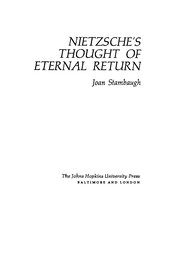 Cover of: Nietzsche's thought of eternal return