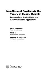 Cover of: Non-Classical Problems in the Theory of Elastic Stability | Isaac Elishakoff