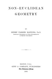 Cover of: Non-Euclidean geometry | Manning, Henry Parker