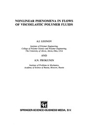 Cover of: Nonlinear Phenomena in Flows of Viscoelastic Polymer Fluids | A. I. Leonov