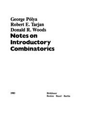 Cover of: Notes on introductory combinatorics | George PГіlya