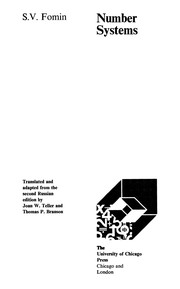 Cover of: Number systems