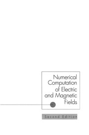 Cover of: Numerical Computation of Electric and Magnetic Fields | Charles W. Steele