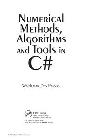 Cover of: Numerical methods, algorithms, and tools in C♯ | Waldemar Dos Passos