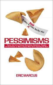 Cover of: Pessimisms