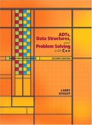 Cover of: ADTs, Data Structures, and Problem Solving with C++ (2nd Edition) (Alan R. Apt Books) | Larry R. Nyhoff