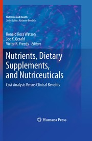 Cover of: Nutrients, dietary supplements, and nutriceuticals